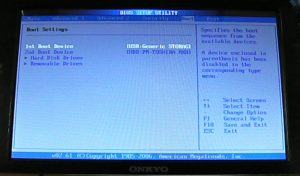 NX707A4 BIOS Boot