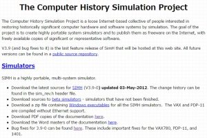 The Computer History Simulation Project