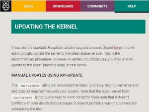 Updating The Kernel