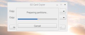 SD Card Copier パーティション設定