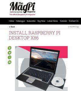 INSTALL RASPBERRY PI DESKTOP X86