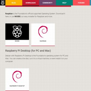 Raspberry Pi Desktop Download page