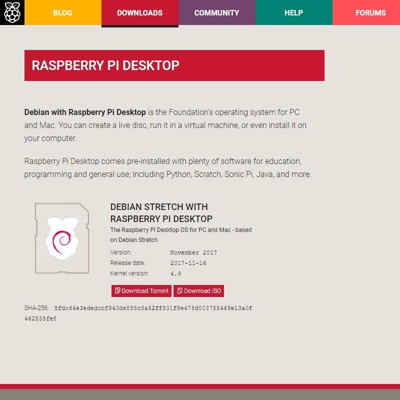 Debian stretch with raspberry pi desktop