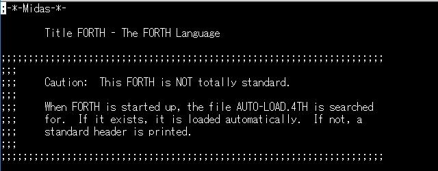 FORTH ソースコード