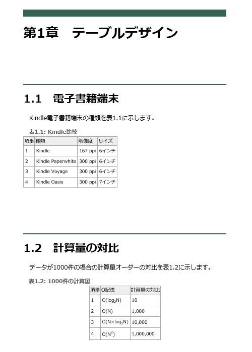 Re:VIEWのテーブル 改善前  (Edgeビュアー)