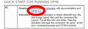 CP/M 2.2 イメージディスク