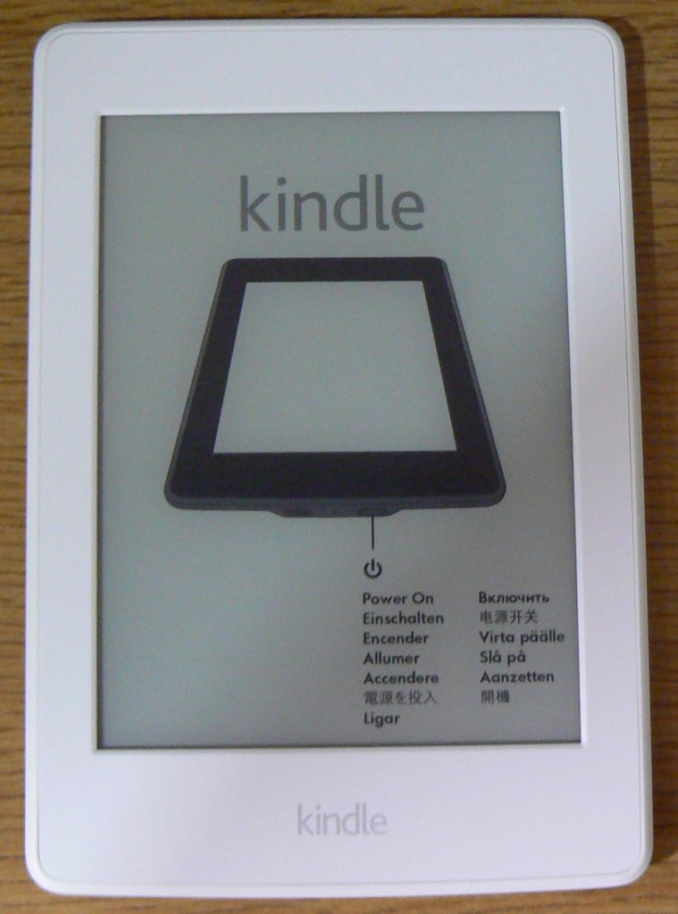 Kindle Paperwhite Power On