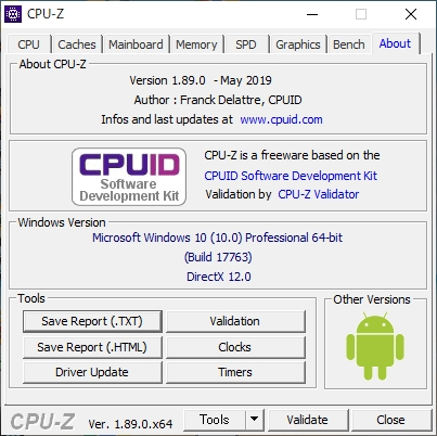 Windows CPU-Z